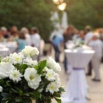People gather for a Wedding Reception