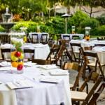 A wedding reception awaiting guests