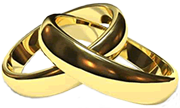 Traditional yellow gold wedding bands