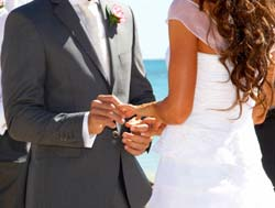 Renewing wedding vows reaffirms promises made in the past.