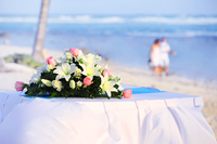 Beach Weddings are a wonderful break from a traditional church ceremony.