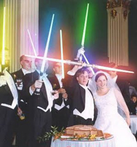 Formal Jedi wedding ceremony